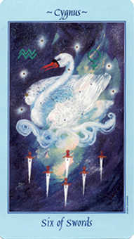 Six of Bats Tarot Card - Celestial Tarot Deck