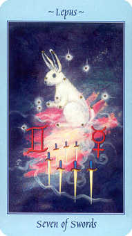 Seven of Arrows Tarot Card - Celestial Tarot Deck