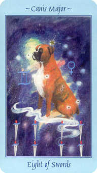 Eight of Spades Tarot Card - Celestial Tarot Deck