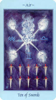 Ten of Arrows Tarot Card - Celestial Tarot Deck