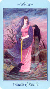 Princess of Swords Tarot Card - Celestial Tarot Deck