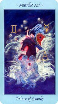 Prince of Swords Tarot Card - Celestial Tarot Deck