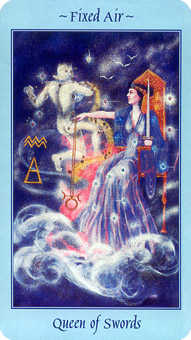 Reine of Swords Tarot Card - Celestial Tarot Deck