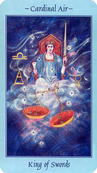 King of Swords Tarot Card - Celestial Tarot Deck