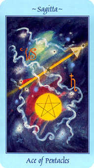 Ace of Discs Tarot Card - Celestial Tarot Deck