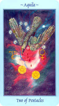 Two of Diamonds Tarot Card - Celestial Tarot Deck