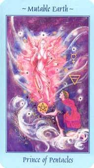 Prince of Pentacles Tarot Card - Celestial Tarot Deck