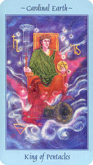 King of Discs Tarot Card - Celestial Tarot Deck