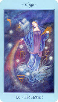 The Hermit Tarot Card - Celestial Tarot Deck