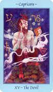 The Devil Tarot card in Celestial deck
