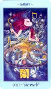 The World Tarot card in Celestial deck