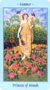 Page of Wands Tarot card in Celestial deck