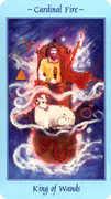 King of Wands Tarot card in Celestial deck