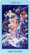 Queen of Swords Tarot card in Celestial deck