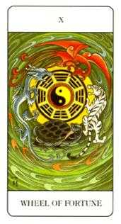 The Wheel of Fortune Tarot Card - Chinese Tarot Deck