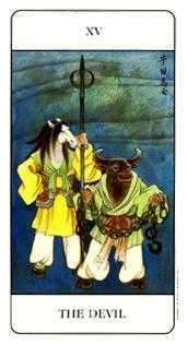 The Devil Tarot Card - Chinese Tarot Deck