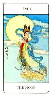 The Moon Tarot Card - Chinese Tarot Deck