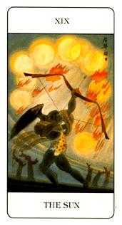 The Sun Tarot Card - Chinese Tarot Deck