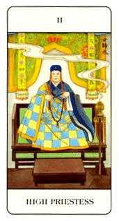 The High Priestess Tarot Card - Chinese Tarot Deck