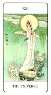 The World Tarot Card - Chinese Tarot Deck