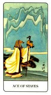 Ace of Sceptres Tarot Card - Chinese Tarot Deck