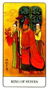 King of Rods Tarot Card - Chinese Tarot Deck