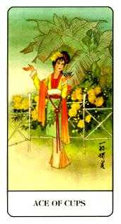 Ace of Bowls Tarot Card - Chinese Tarot Deck