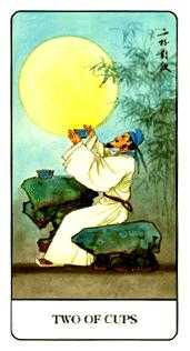 Two of Cups Tarot Card - Chinese Tarot Deck