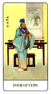 Four of Cauldrons Tarot Card - Chinese Tarot Deck