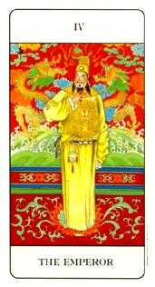 The Emperor Tarot Card - Chinese Tarot Deck