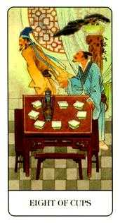 Eight of Water Tarot Card - Chinese Tarot Deck