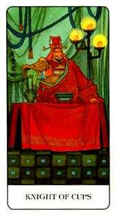 Cavalier of Cups Tarot Card - Chinese Tarot Deck