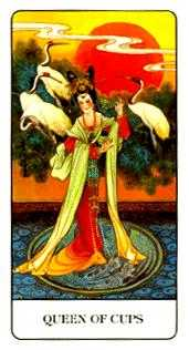 Queen of Bowls Tarot Card - Chinese Tarot Deck