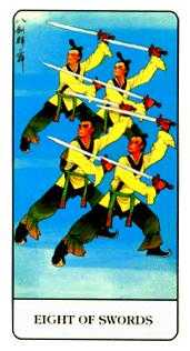 Eight of Arrows Tarot Card - Chinese Tarot Deck