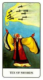 Ten of Wind Tarot Card - Chinese Tarot Deck