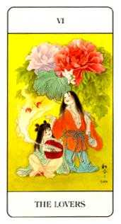 The Lovers Tarot Card - Chinese Tarot Deck