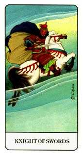 Knight of Swords Tarot Card - Chinese Tarot Deck