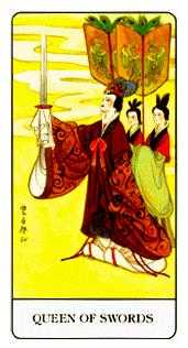 Queen of Spades Tarot Card - Chinese Tarot Deck