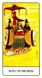 King of Spades Tarot Card - Chinese Tarot Deck