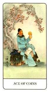 Ace of Discs Tarot Card - Chinese Tarot Deck