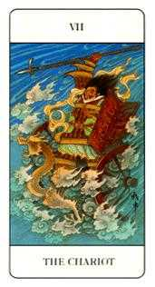 The Chariot Tarot Card - Chinese Tarot Deck