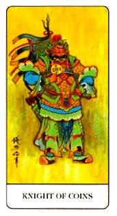 Knight of Coins Tarot Card - Chinese Tarot Deck