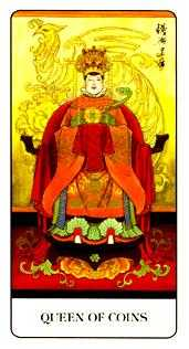 Queen of Discs Tarot Card - Chinese Tarot Deck
