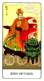 King of Pentacles Tarot Card - Chinese Tarot Deck