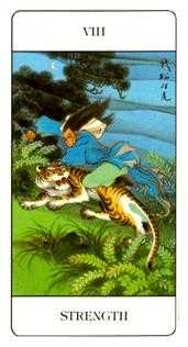 Strength Tarot Card - Chinese Tarot Deck