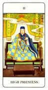 The High Priestess Tarot card in Chinese Tarot deck