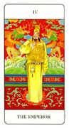 The Emperor Tarot card in Chinese deck