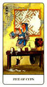 Five of Cups Tarot card in Chinese deck