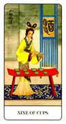 Nine of Cups Tarot card in Chinese Tarot deck