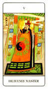 The Hierophant Tarot card in Chinese Tarot deck